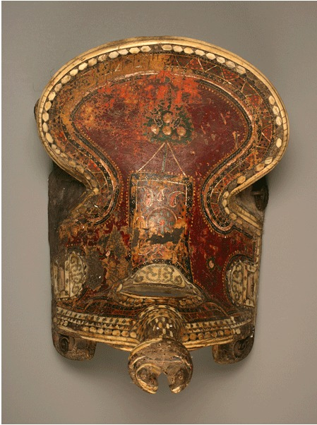Inlaid Leather Qajar Saddle