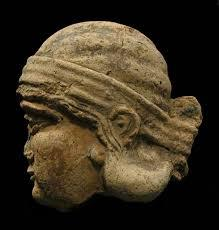 Assyrian Terracotta Relief of a Head in Profile