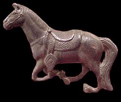 Sassanid Bronze Sculpture of a Horse