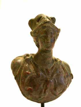 Roman Bronze Weight in the Form of a Bust of Minerva