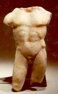 Late Hellenistic/Early Roman Marble Sculpture of a Torso