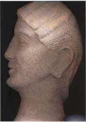Etruscan Terracotta Profile Head Relief of a Woman