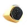 Gold Ring Featuring a Maccabean Bronze Coin of King Alexander Jannaeus