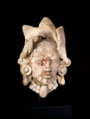 Mayan Late Classic Period Lime Stucco Head