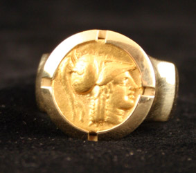 18 Karat Gold Ring Featuring a Gold Stater of Alexander the Great