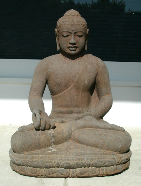 Indonesian Basalt Sculpture of the Buddha