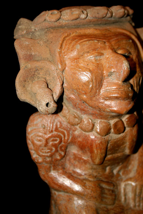 Mayan Terracotta Figure of a Deity