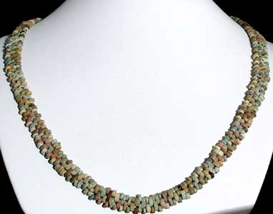 Necklace Of Antique Faience Beads