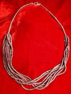 Necklace Of Bronze Age Red Stone Beads