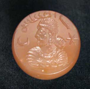 Sassanian Brown Agate Seal