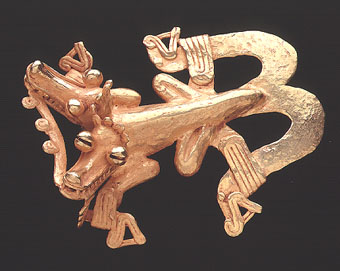 Gold Pendant of a Double-Headed Composite Creature