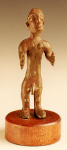 Iberian Bronze Votive Sculpture of a Man