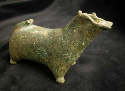 Iron Age Bronze Zoomorphic Sculpture