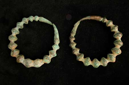 Pair of Luristan Bronze Earrings