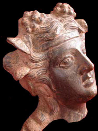 Roman Bronze Applique of Bacchus