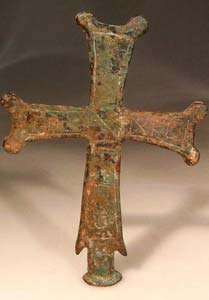 Byzantine Bronze Cross From a Standard