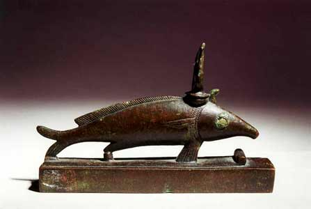 Bronze Sculpture of an Oxyrhynchus Fish God