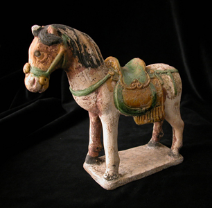 Ming Glazed Sculpture of a Horse