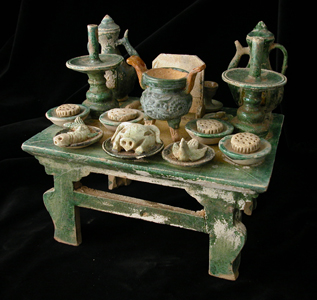 Ming Glazed Terracotta Offering Table