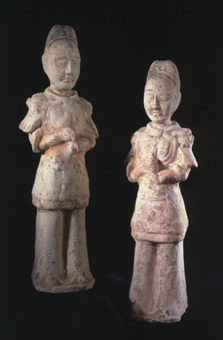 Pair of Tang Sculptures of Attendants