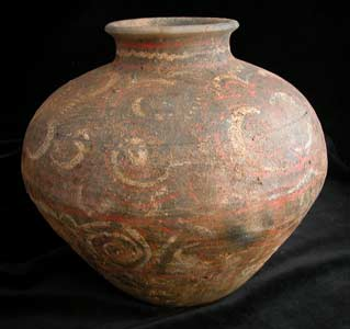 Western Han Painted Terracotta Food Storage Vessel