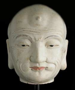 Yuan Painted Terracotta Head of a Lohan