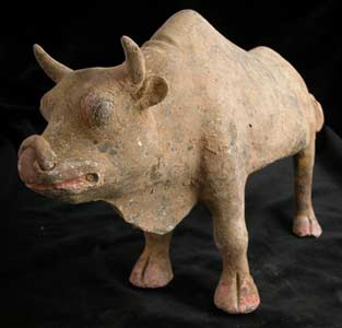 T'ang Terracotta Sculpture of a Standing Ox