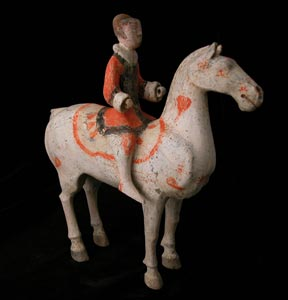 Han Polychrome Horse and Rider