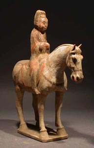 Tang Polychrome Horse and Female Rider