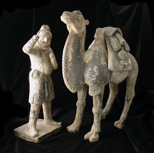 Tang Terracotta Camel and Foreign Groom