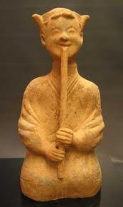 Han Dynasty Painted Pottery 'Sichuan' Flute Player