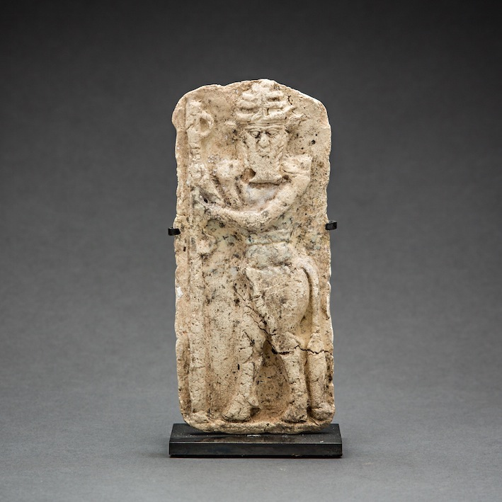 Old Babylonian Moulded Plaque with Standing Bull Man