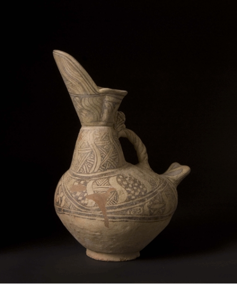 Islamic Slip-Painted Terracotta Jug