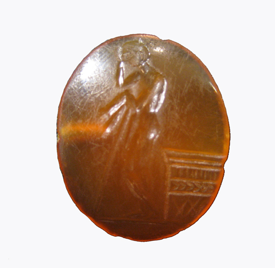 Roman Carnelian Intaglio depicting a figure of Apollo