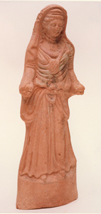 Terracotta Votive Sculpture of a Woman
