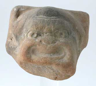 Greco-Roman Terracotta Sculpture of a Theatrical Mask