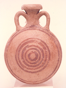 Terracotta Monochrome Pilgrim's Flask