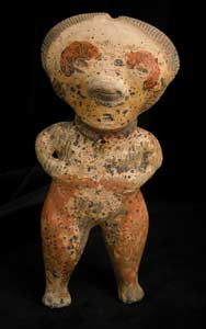 Chinesco Style (Type C) Nayarit Terracotta Sculpture of a Standing Man