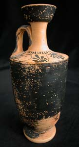 Attic Black-Glazed Lekythos