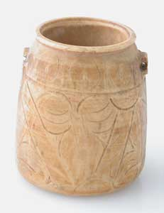 Coptic Bone Jar with Diminutive Lug Handles