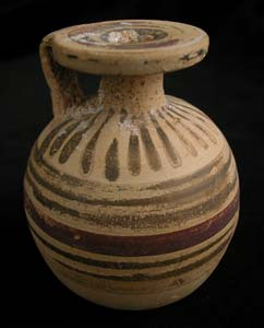 Corinthian Aryballos with Polychrome Decorations