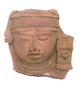 Veracruz Terracotta Fragment of a Woman's Head