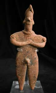 Tuxcacuesco-Ortices Style Colima Terracotta Sculpture of a Standing Man