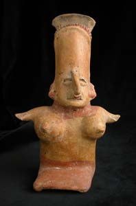 San Juanito Style Jalisco Terracotta Sculpture of a Kneeling Woman