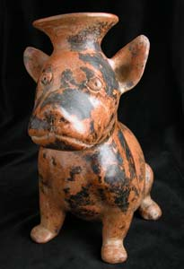 Colima Vessel in the Form of a Seated Dog