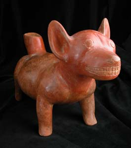 Colima Vessel in the Form of a Standing Dog