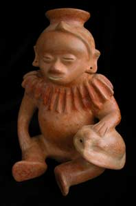 Colima Sculpture of a Seated Musician