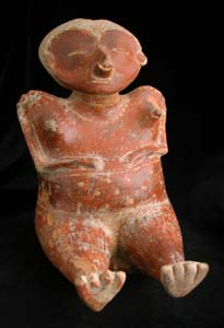 Chinesco Style (Type B) Nayarit Terracotta Seated Pregnant Woman