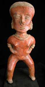 Chinesco Style (Type D) Nayarit Terracotta Sculpture of a Standing Woman