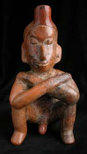 Colima Vessel in the Form of a Seated Man